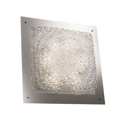 """Justice Design GLA-5568 Veneto Luce - 24"""" Square Framed Flush-Mount/ Wall Sconce"""