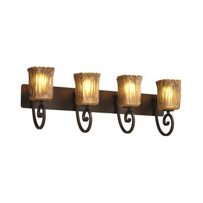 Justice Design GLA-8574 Victoria Four Light Bath Bar
