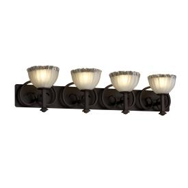 Justice Design GLA-8584 Heritage Four Light Bath Bar