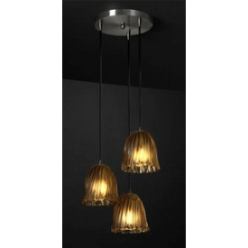 Justice Design GLA-8818 3-Light Cluster Pendant