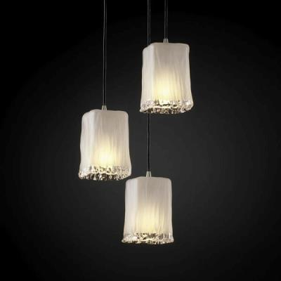 Justice Design GLA-8864 3-Light Cluster Small Pendant