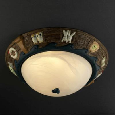 "Justice Design KID-6185-INCAN Noah's Ark 17"" Flush-Mount"