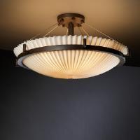 Porcelina - Six Light Round Semi-Flush Mount with Ring