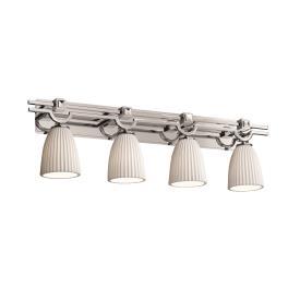 Justice Design POR-8504 Argyle Four Light Bath Bar