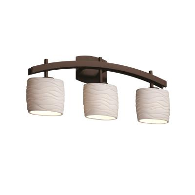 Justice Design POR-8593 Archway Three Light Bath Bar