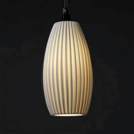 Justice Design POR-8862 Limoges - One Light Large Curved Cylinder Pendant