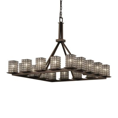 Justice Design WGL-8615 Montana 16-Light Ring Chandelier