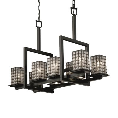 Justice Design WGL-8618 Montana 8-Up & 3-Downlight Bridge Chandelier