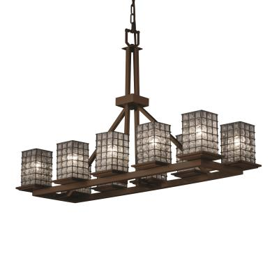 Justice Design WGL-8650 Montana 10-Light Rectangular Ring Chandelier