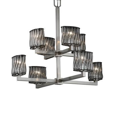 Justice Design WGL-8828 Modular Eight Light 2-Tier Chandelier
