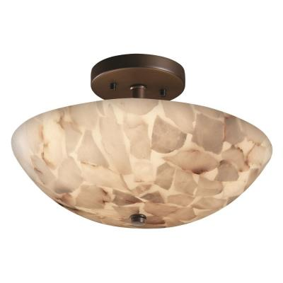 "Justice Design ALR-9690 14"" Round Semi-Flush Bowl"