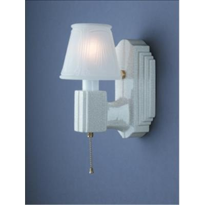 Justice Design 7110 Deco Rectangle W/ Clip-on Glass Shade Wall Bracket