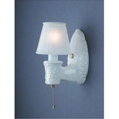Justice Design 7120 Heirloom Oval W/ Clip-on Glass Shade Wall Bracket