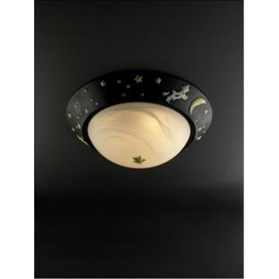 "Justice Design KID-6182-PL2 Cow Over Moon 17"" Flush-Mount"