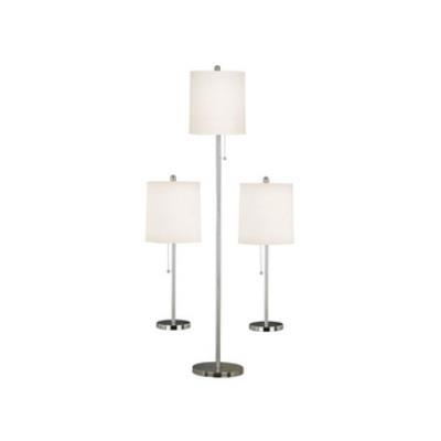 Kenroy Lighting 21016BS Selma - Two Light 3-Pack Table/Floor Lamp