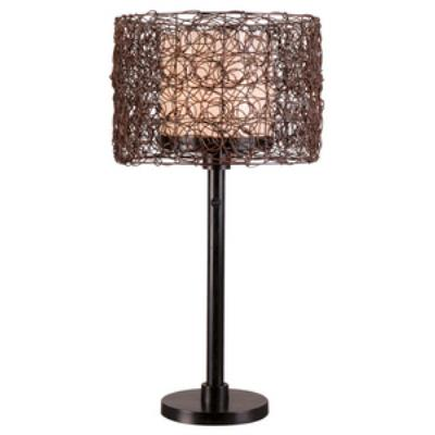 Kenroy Lighting 32219BRZ Tanglewood - One Light Outdoor Table Lamp