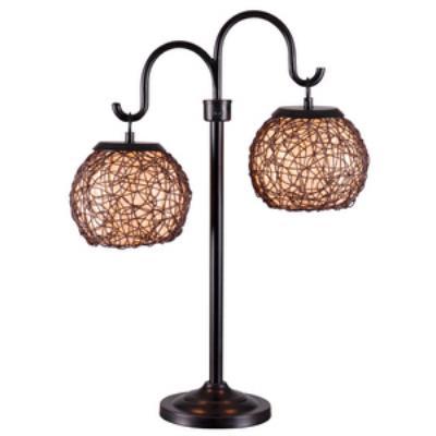 Kenroy Lighting 32245BRZ Castillo - Two Light Outdoor Table Lamp