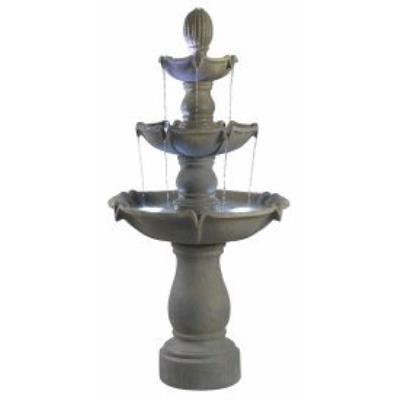 Kenroy Lighting 50333DT Sherwood - Three Light Outdoor Floor Fountain