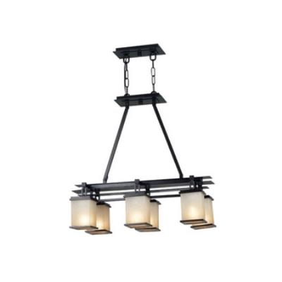 Kenroy Lighting 90386ORB Plateau 6 Light Island Light