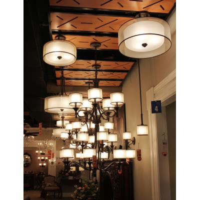 Kichler Lighting 42385MIZ Lacey - Four Light Inverted Drum Shade Pendant