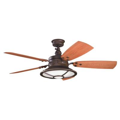 "Kichler Lighting 310102TZP Harbour Walk Patio -52"" Ceiling Fan"