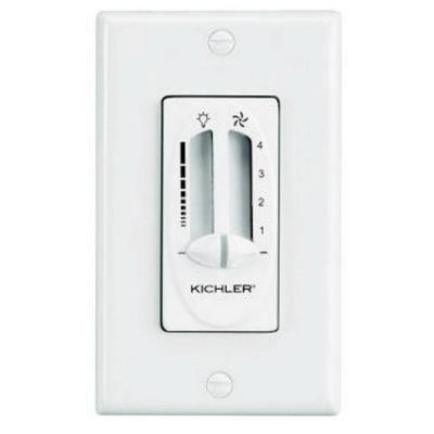 Kichler Lighting 337010ALM Fan Light Dual Slider Control