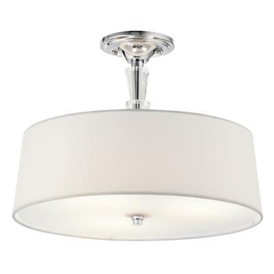 Kichler Lighting 42035CH Crystal Persuasion - Three Light Semi-Flush Mount
