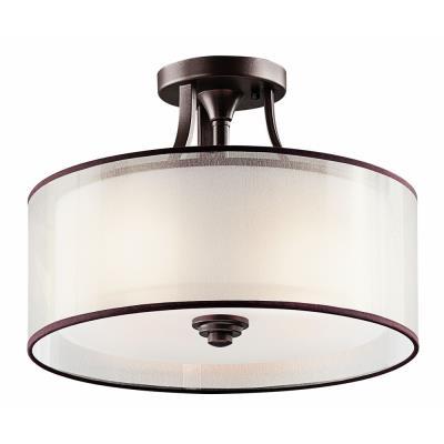 Kichler Lighting 42386MIZ Lacey - Three Light Semi-Flush Mount