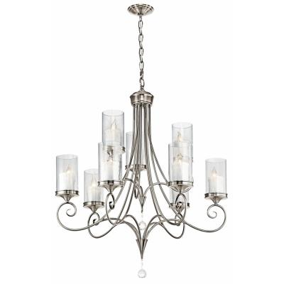 Kichler Lighting 42863CLP Lara - Nine Light 2-Tier Chandelier