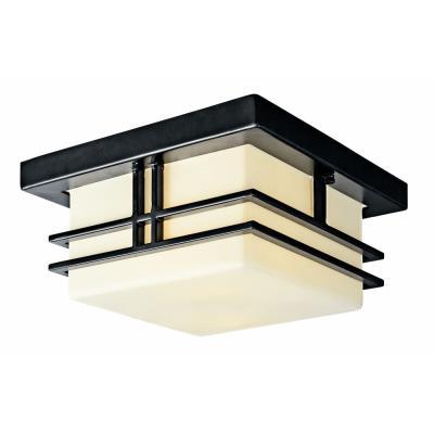 Kichler Lighting 49206BK Tremillo - Two Light Outdoor Flush Mount