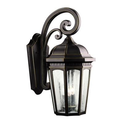 Kichler Lighting 9034RZ Courtyard - Three Light Outdoor Wall Mount