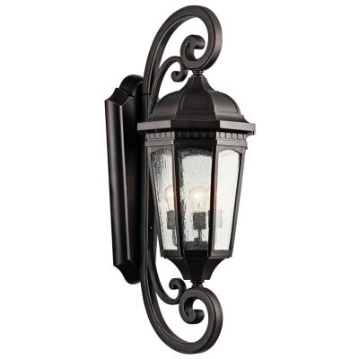 Kichler Lighting 9060RZ Courtyard - Three Light Outdoor X-Large Wall Mount