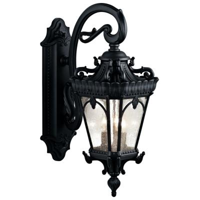 Kichler Lighting 9358BKT Tournai - Three Light Outdoor Wall Mount