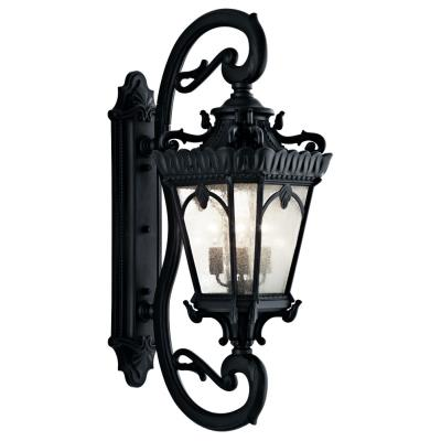 Kichler Lighting 9360BKT Tournai - Four Light Outdoor Wall Mount