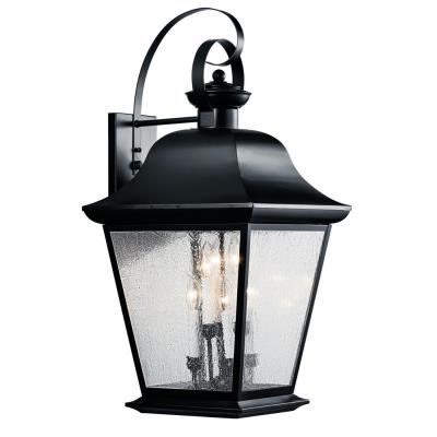 Kichler Lighting 9703BK Mount Vernon - Six Light X-Large Outdoor Wall Lantern