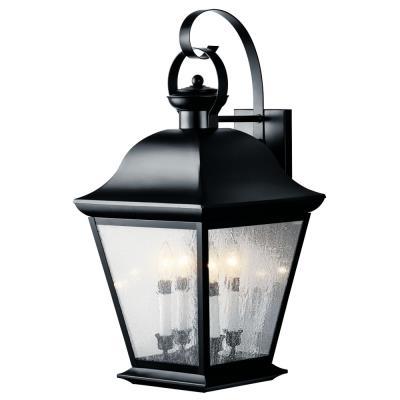 Kichler Lighting 9704BK Mount Vernon - Four Light X-Large Outdoor Wall Lantern
