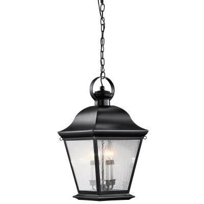 Kichler Lighting 9804BK Mount Vernon - Four Light Outdoor Hanging Pendant