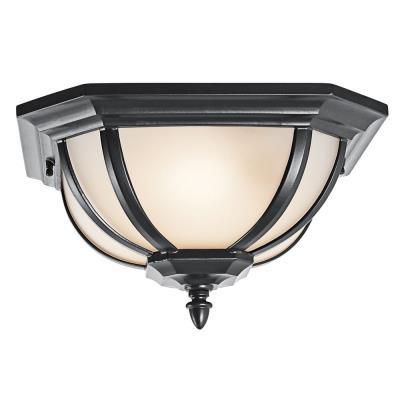 Kichler Lighting 9848BK Salisbury - Two Light Outdoor Flush Mount