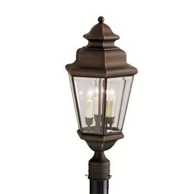 Kichler Lighting 9931OZ Savannah Estates - Three Light Post Mount
