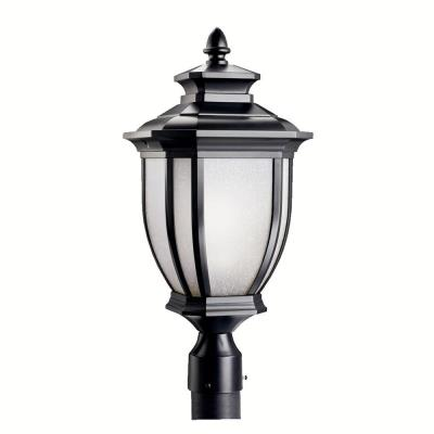Kichler Lighting 9938BK Salisbury - One Light Outdoor Post Mount