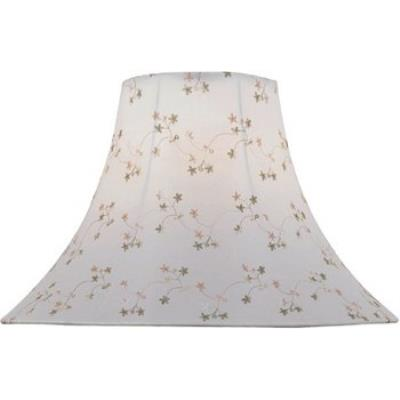 Lite Source CH1148-18 White Jacquard Bell Shade Only