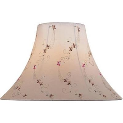Lite Source CH1165-18 Light Beige Jacquard Bell Shade Only