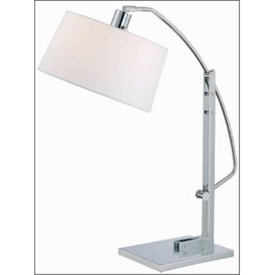 Lite Source LS-21560C/WHT One Light Adjustable Table Lamp
