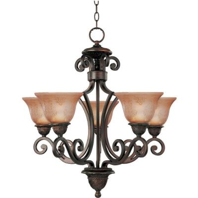 Maxim Lighting 11244SAOI Symphony - Five Light Chandelier