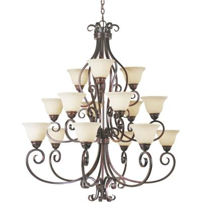 Maxim Lighting 12209FIOI Manor - Fifteen Light Three Tier Chandelier