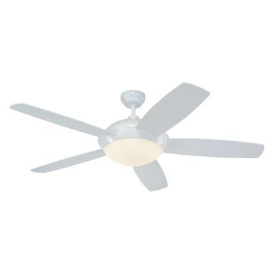 """Monte Carlo Fans 5SLR52WHD-B Sleek -52"""" Outdoor Ceiling Fan"""