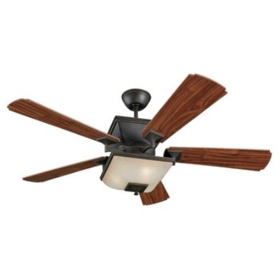 "Monte Carlo Fans 5TQ52RBD-L Town Square -52"" Outdoor Ceiling Fan"