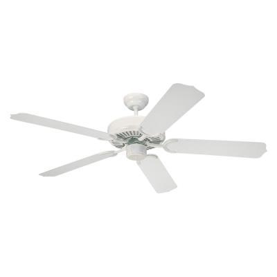 "Monte Carlo Fans 5WF52WH Weatherford -52"" Semi-Flush Ceiling Fan"