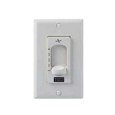 Monte Carlo Fans ESSWC-4-WH Wall Control for Extra Heavy Duty 212mm Motors