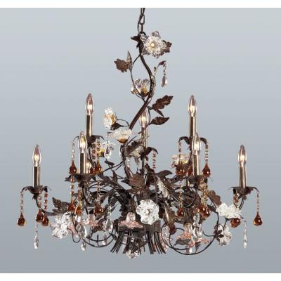 Elk Lighting 85003 Cristallo Fiore - Nine Light Chandelier